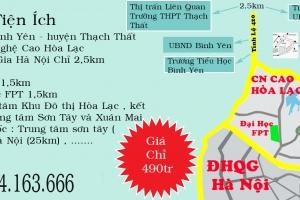 Sở Hữu Ngay Đất Nền Bình Yên , Tân Xã - Thạch Thất - Hà Nội Chỉ Từ 6tr/m2