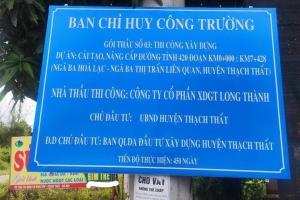 Chính thức khởi công đường tỉnh 420 Thạch Thất nối từ ngã ba Hòa Lạc lên thị trấn Liên Quan.